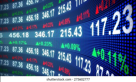 3D. Finance, Stock Market, Stock Exchange.