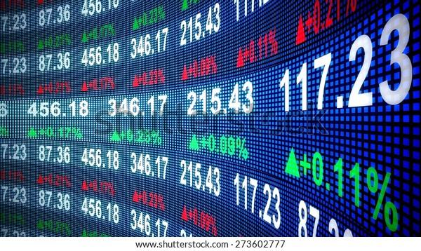 3D. Finance, Stock Market, Stock Exchange.