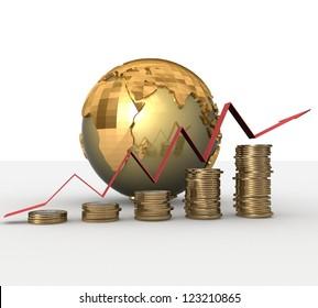 3d Financial success concept