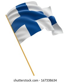 3D Finnish flag