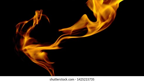 3D Fire And  Ball and  Candil stock Image