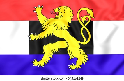3D Flag of the Benelux.