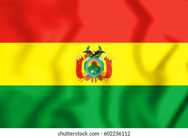 3D Flag of the Bolivia. 3D Illustration.