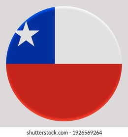 3D Flag of Chile on avatar circle.