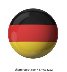 3D flag of Germany isolated on white