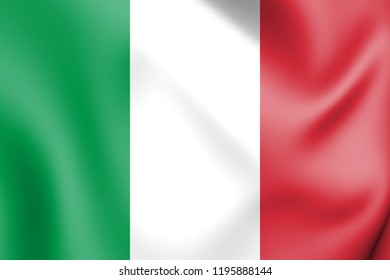 3D Flag of Italy. 3D Illustration.