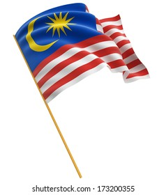 3D flag of Malaysia