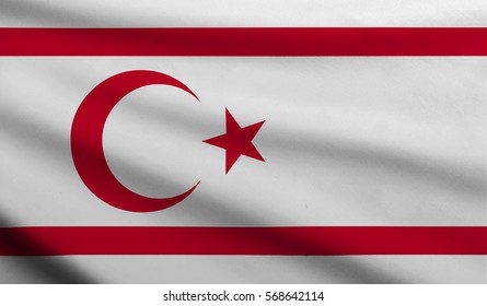 3D flag of Turkish Republic of Northern Cyprus