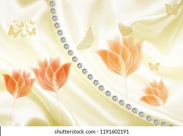 3d floral effect