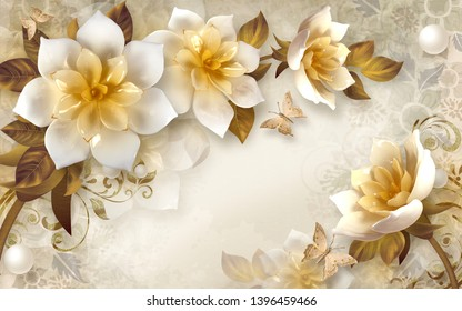 3d Flowers Images Stock Photos Vectors Shutterstock