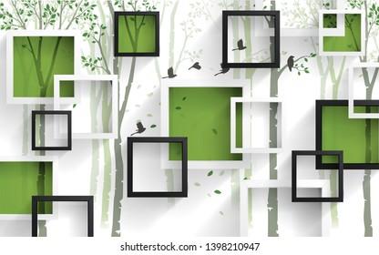 3d flower wallpaper white squares 260nw 1398210947