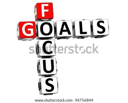 royalty free stock illustration of 3 d focus goals crossword cube