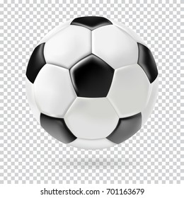 3d football isolated on background. Realistic style.