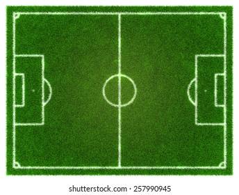 3d Football/Soccer grassy field