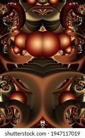 3d fractal illustration. Abstract fractal in color.