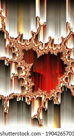 3d fractal illustration.Abstract fractal in bright color. Abstract forms.
