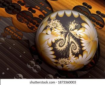 3D fractal illustration.Texture fractal in color.Abstract form.