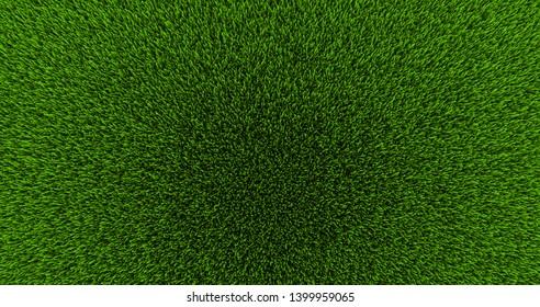3d fresh green grass, top view