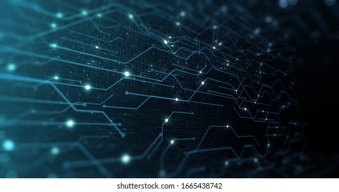 3D Futuristic abstract background. Motion graphic for abstract data center, server, internet, speed.	Futuristic HUD tunnel. Display screens for tech titles and background, news headline. 3D render