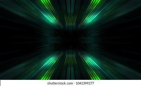 3D Futuristic abstract business and technology concept, Acceleration super fast motion blur of light ray for background design. Travel science fiction wormhole at warp speed. 3D rendering