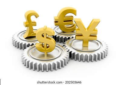 3d gear with global currency