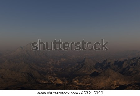 Royalty Free Stock Illustration of 3 D Generated Landscape