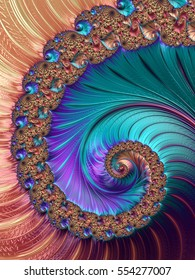 3D Generated and Rendered Fractal Art