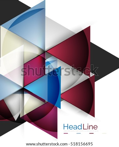 3 d geometric abstract background triangle template stock