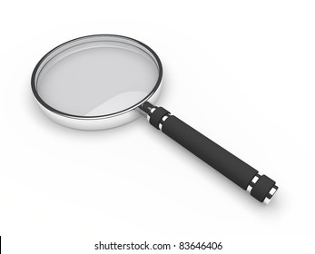 3d glass magnifying lens search zoom view