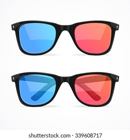 3d Glasses for Cinema Set. illustration