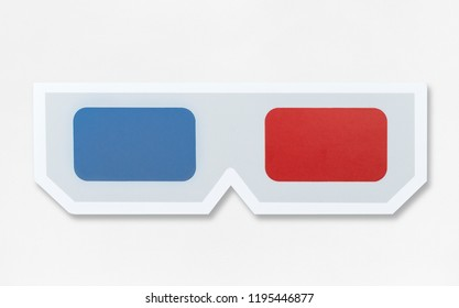 3D glasses icon in white background