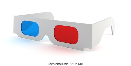 3d glasses. 3d illustration on white background