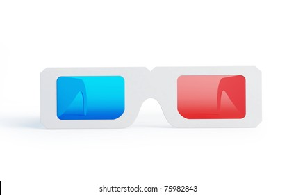 3d glasses on black background