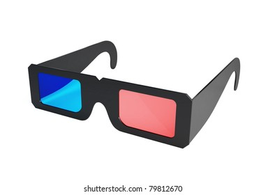 3d glasses on a white background