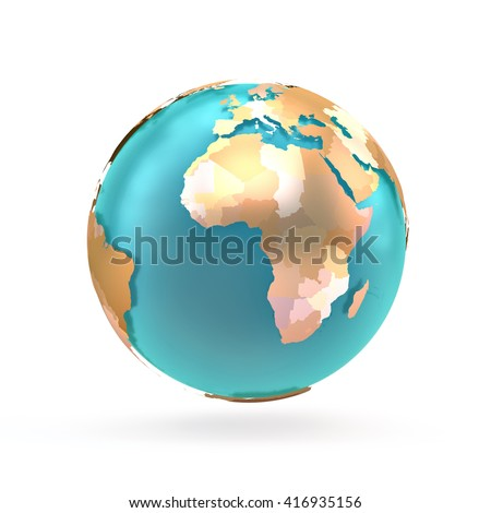Royalty Free Stock Illustration of 3 D Globe Map World Continents ...