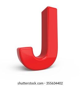 3d Shiny Red Letter Collection J Ez Canvas