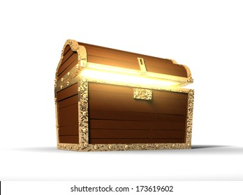3d: Glowing Pirate Treasure Chest