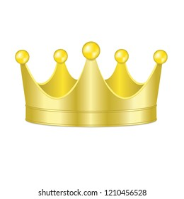 3D Gold crown isolated on a white background