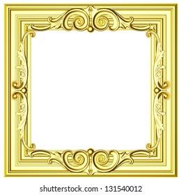 3d gold framework on a white background