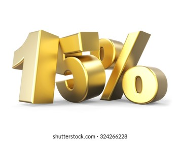 3D golden percentage discount collection - version 15 % off