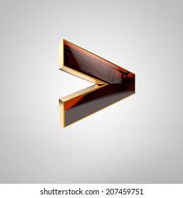3d golden symbol