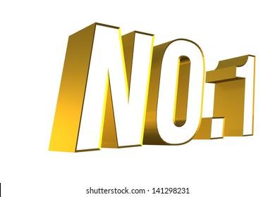 3D golden word NO.1