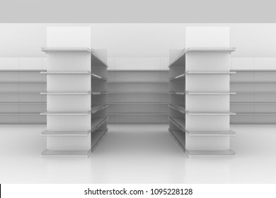 3D gondola shelf supermarket