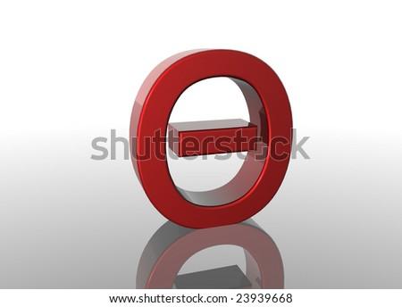 3D Greek Letter