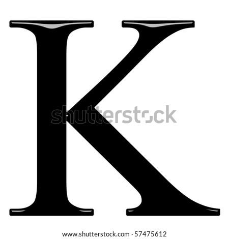3 D Greek Letter Kappa Stock Illustration 57475612 - Shutterstock. 3d Greek  letter Kappa e0e9b36b78768