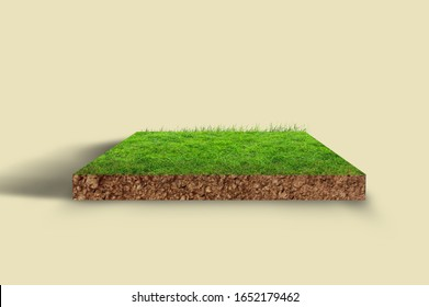 3D green land semi realistic, 3D Green land,3d land, front view