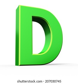 3d green letter collection - D