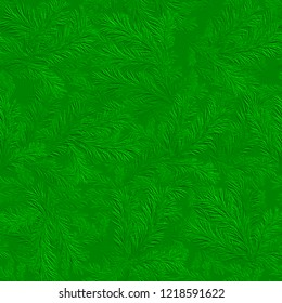 3d green seamless pattern with Christmas tree branches