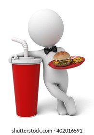 The 3d guy is a fast food restaurant waiter