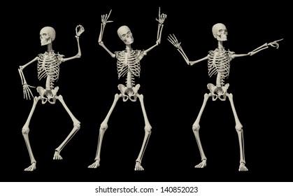 3D Happy Dancing Skeleton for Holloween